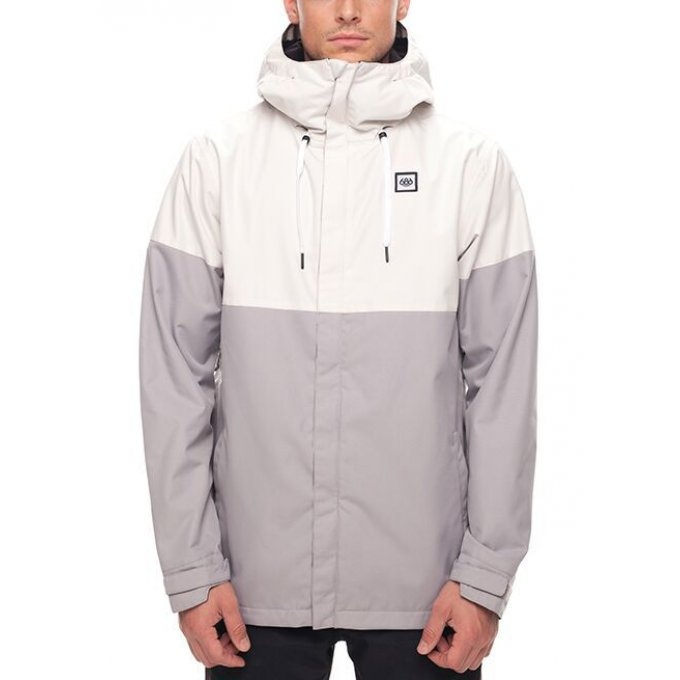 Veste de snowboard 686 Foundation White Colorblock