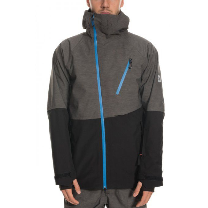 Veste de snowboard 686 Hydra Thermagraph Charcoal-Heather
